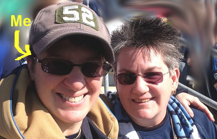 Tracey and Patti at Philadelphia Union Soccer Match 2014